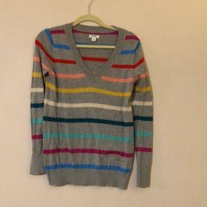 Multi-colored striped sweater! Size Medium